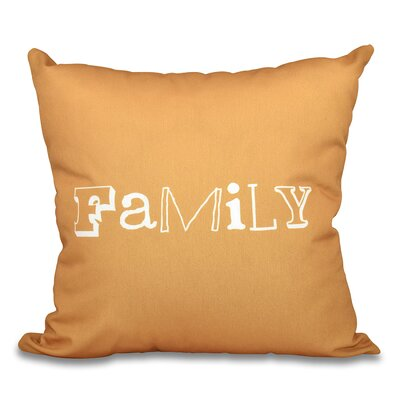 Scotland Home Throw Pillow Size: 16 H x 16 W, Color: Gold