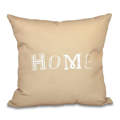 Scotland Home Throw Pillow Size: 16 H x 16 W, Color: Taupe