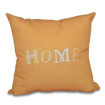 Scotland Home Throw Pillow Size: 18 H x 18 W, Color: Yellow