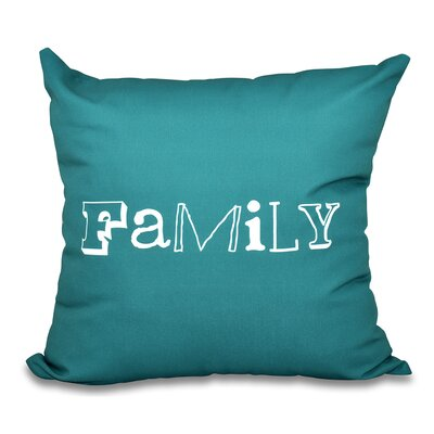 Scotland Home Throw Pillow Size: 26 H x 26 W, Color: Teal