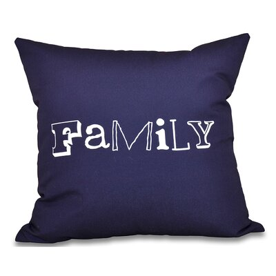 Scotland Home Throw Pillow Color: Navy Blue, Size: 26 H x 26 W