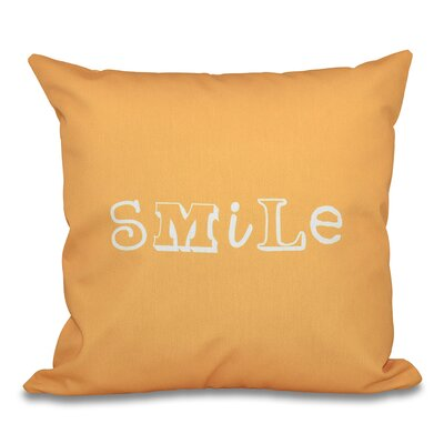 Scotland Happy Smile Throw Pillow Size: 18 H x 18 W, Color: Yellow