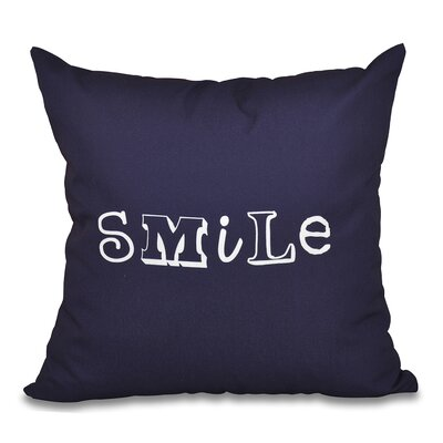 Scotland Happy Smile Throw Pillow Size: 20 H x 20 W, Color: Navy Blue