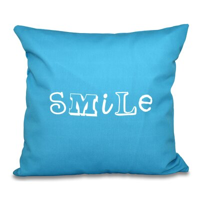 Scotland Happy Smile Throw Pillow Size: 20 H x 20 W, Color: Turquoise