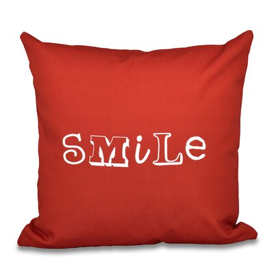 Scotland Happy Smile Throw Pillow Size: 16 H x 16 W, Color: Red