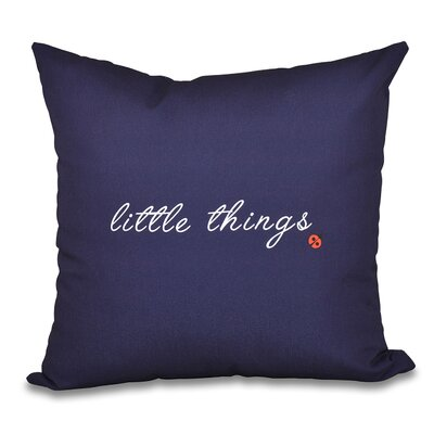 Twin Peaks Print Outdoor Throw Pillow Color: Navy Blue, Size: 20 H x 20 W