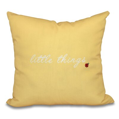 Twin Peaks Print Outdoor Throw Pillow Size: 18 H x 18 W, Color: Yellow