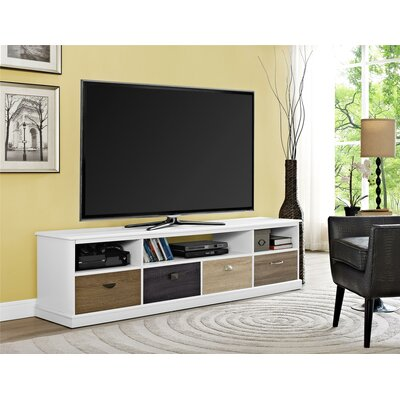 Snowy Mountain 72 TV Stand Color: White