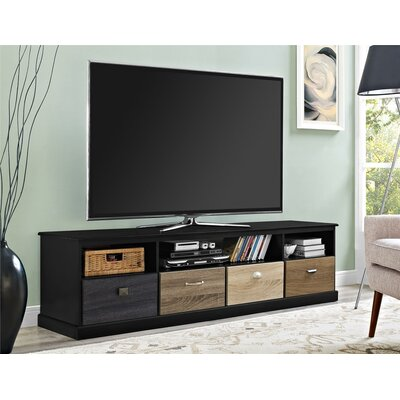 Snowy Mountain 72 TV Stand Color: Black