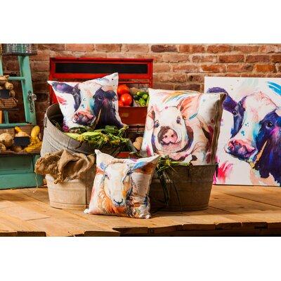 Seelye Watercolor Cow Throw Pillow