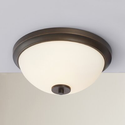 Listermann 1-Light Flush Mount Finish: Sienna Bronze
