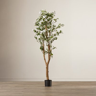 Red Barrel Studio Silk Dogwood Tree in Pot RDBS1798 27711469
