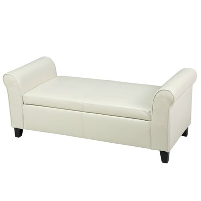 DuClaw Storage Ottoman Upholstery: Ivory