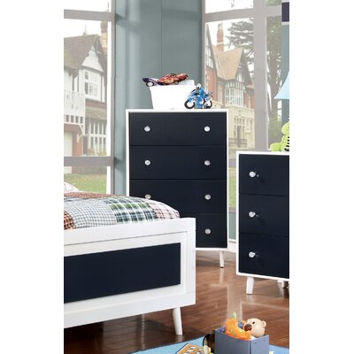 Sea Dog 4 Drawer Chest Color: Blue/White