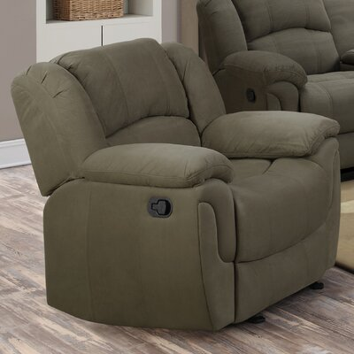 Diamond Knot Glider Recliner Upholstery: Sage