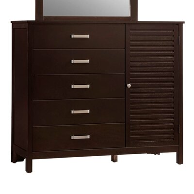 Mill Creek 5 Drawer Cabinet Dresser with Mirror