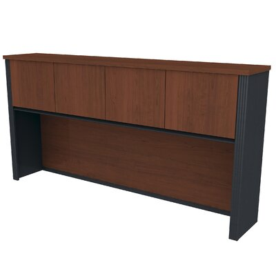 Bormann 36.44 H x 71.13 W Desk Hutch Finish: Bordeaux and Graphite