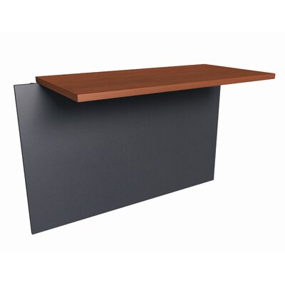Bormann 30.4 H x 39.4 W Desk Bridge Finish: Bordeaux and Graphite