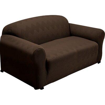 Madden Loveseat Slipcover Upholstery: Chocolate