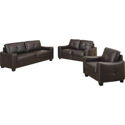 Red Barrel Studio RDBS2986 28702593 Rahr Leather Loveseat