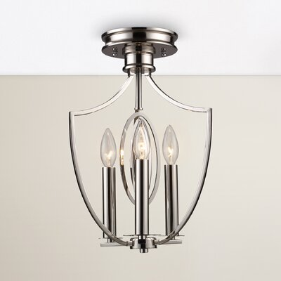 Danny 3-Light Semi Flush Mount