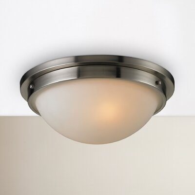 Saylors 2-Light Flush Mount Finish: Brushed Nickel
