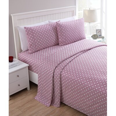 Parkway 200 Thread Count Sheet Set Color: Pink, Size: Queen