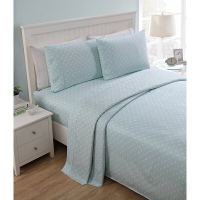 Parkway 200 Thread Count Sheet Set Color: Aqua, Size: Queen