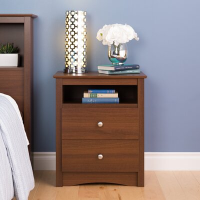 Yards 2 Drawer Nightstand Color: Warm Cherry