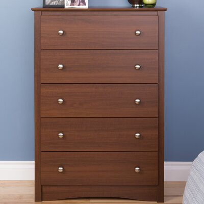 Yards 5 Drawer Dresser Color: Warm Cherry