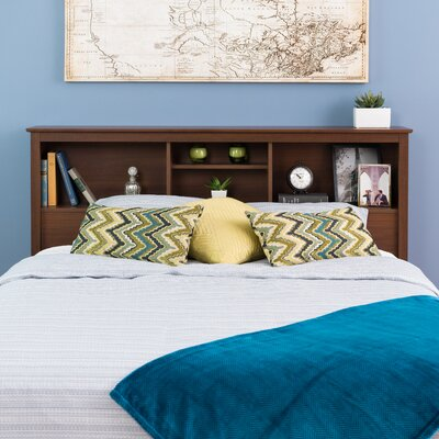 Yards Bookcase Headboard Color: Warm Cherry