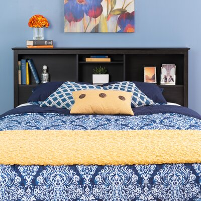 Yards Bookcase Headboard Color: Washed Black