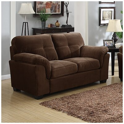 Dickinson Loveseat Upholstery: Mocha Brown