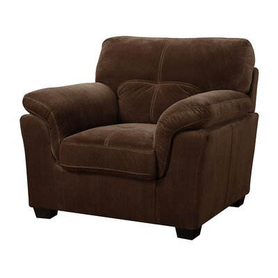 Dickinson Armchair Color: Mocha Brown