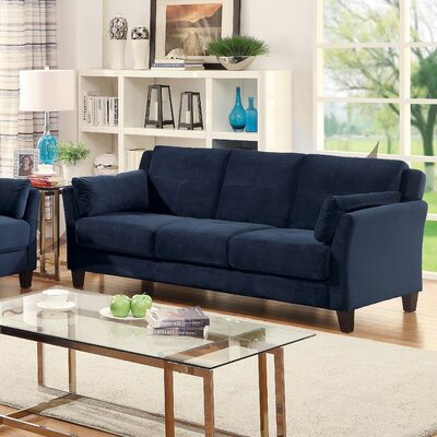 Chandeleur Contemporary Tufted Sofa Upholstery: Navy