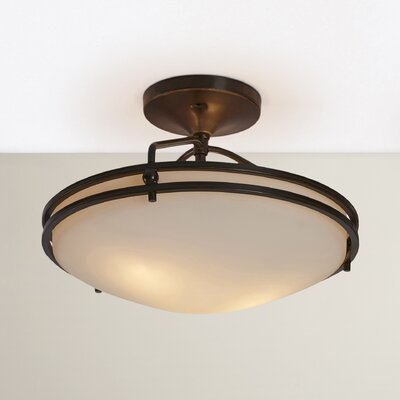 Black Birch Medium Semi Flush Mount Size: 12 H x 16.5 Dia, Finish: Palladian Bronze