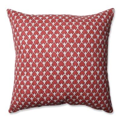 Covered Bridge Cotton Throw Pillow Size: 16.5 H x 16.5 W x 5 D, Color: Salmon
