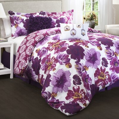 Oliver 7 Piece Reversible Comforter Set Size: Full