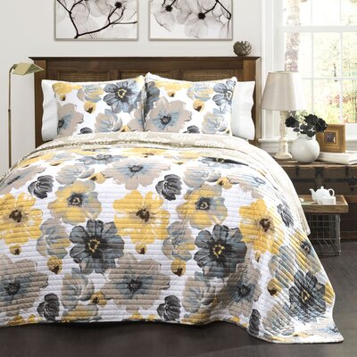 Knox 3 Piece Reversible Quilt Set Size: Full/Queen