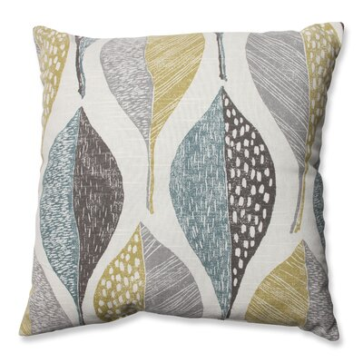 Hilldale Leaf Rain 100% Cotton Throw Pillow Size: 16.5 H x 16.5 W x 5 D