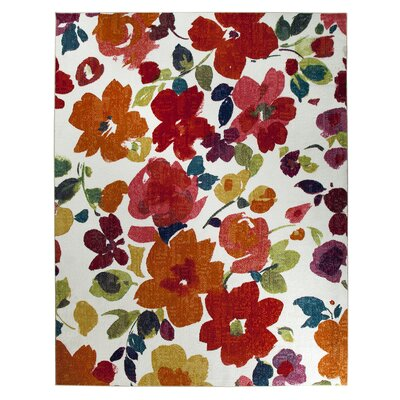 Channel Floral Multi-Printed Area Rug Rug Size: Rectangle 5' x 8'