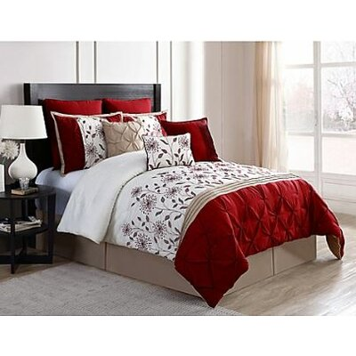Triple Crossing 9 Piece Comforter Set Size: King