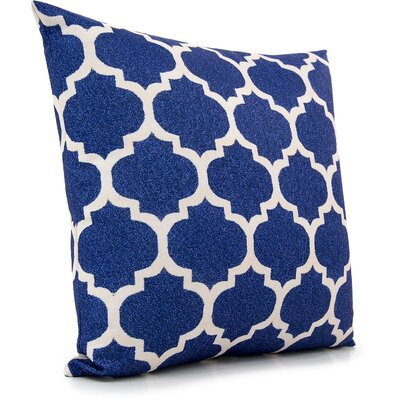 Braselton Throw Pillow Color: Navy Blue/Cream