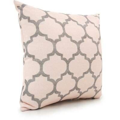 Moore Throw Pillow Color: Beige/Gray/Peach