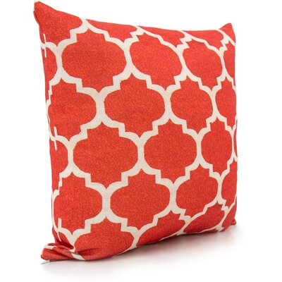 Moore Throw Pillow Color: Orange/Ivory