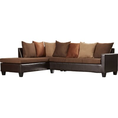 Rossa Sectional Upholstery: Chocolate