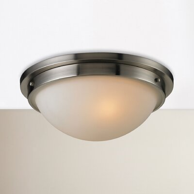 Mcginnis 2-Light Flush Mount Finish: Brushed Nickel
