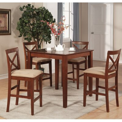 Great Divide 5 Piece Counter Height Pub Table Set Color: Brown