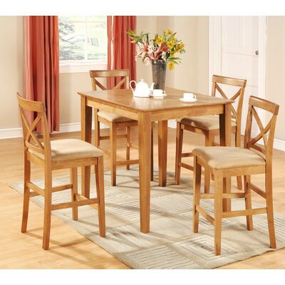 Great Divide 5 Piece Counter Height Pub Table Set Finish: Oak