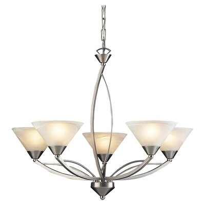 Hagins 5-Light Shaded Chandelier